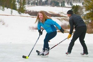 C Lazy U Ranch :: All-Inclusive dude ranch offering gourmet meals, luxury lodging, Ice Skating, & Ice Hockey. Enjoy ice skating & Ice Hockey on the pond all winter long! All equipment provided.