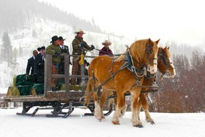 C Lazy U Ranch :: All-Inclusive guest ranch with gourmet meals, luxury lodging, & winter sleigh rides. Our new Belgian draft horses are waiting to whisk you across the fresh mountain snow!