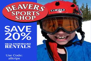 Beavers Sports Shop ski rentals - save 20%