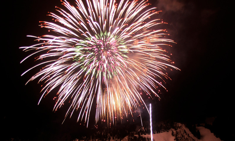 Aspen Snowmass Village Colorado Fireworks Winter