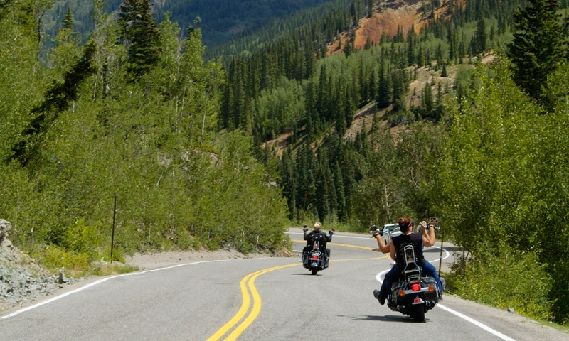 Motorcycle Tour Scenic Drive Rocky Mountains Colorado