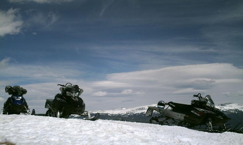 Snowmobiling near Grand Lake Colorado