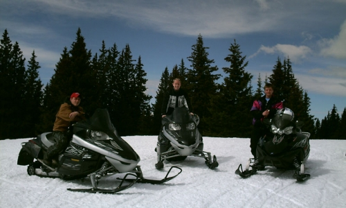 Snowmobiling near Grand Lake Colorado